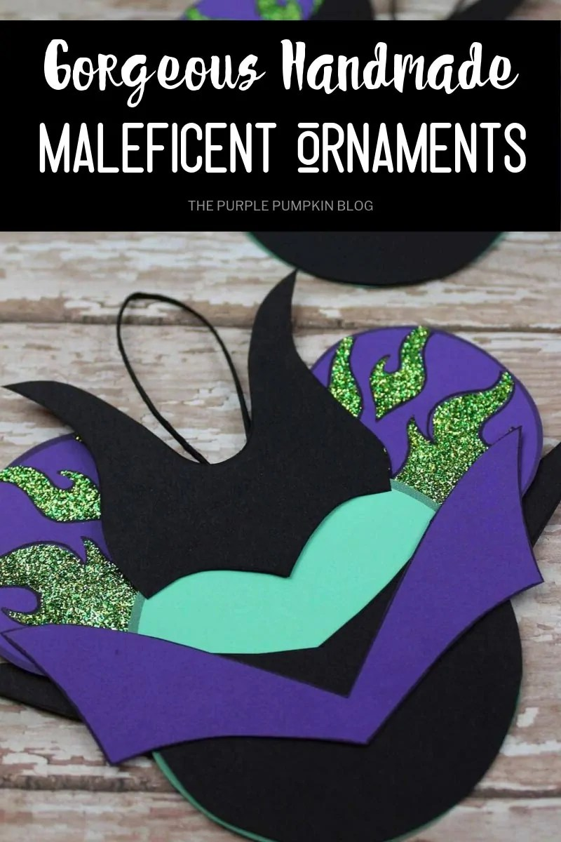 gorgeous handmade Maleficent ornaments