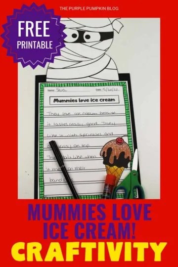 Halloween Craftivity - Mummies Love Ice Cream