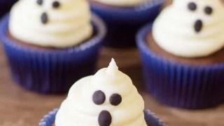 Haunted Halloween Ghost Cupcakes