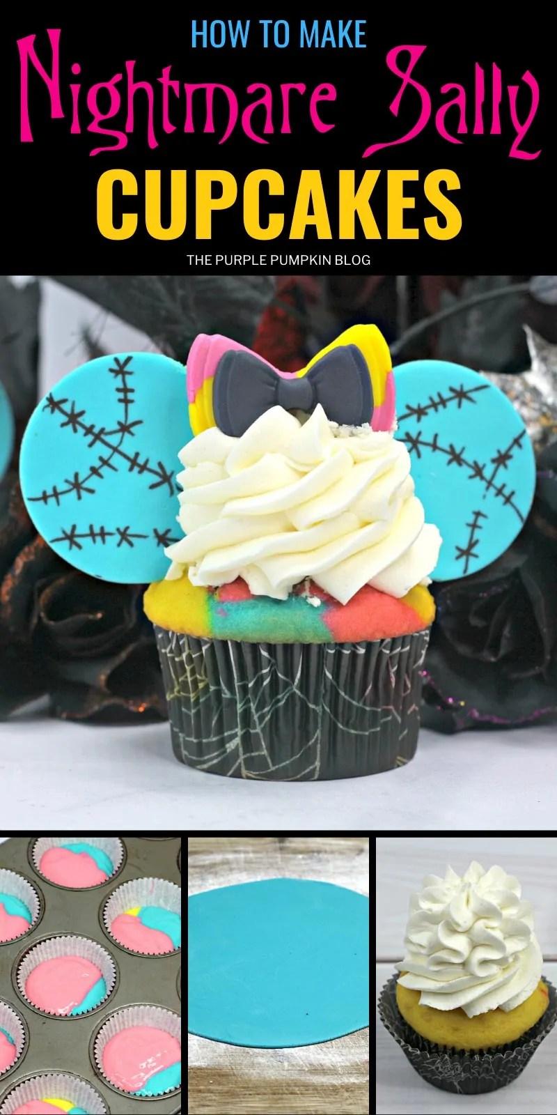 How to make Nightmare Sally Cupcakes