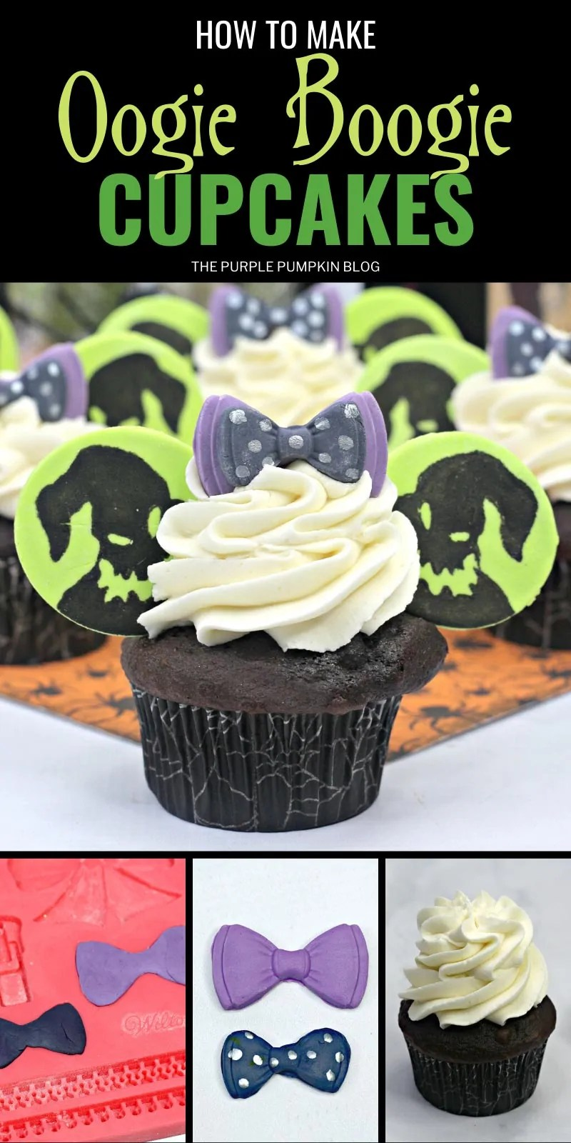 How to make Oogie Boogie Cupcakes