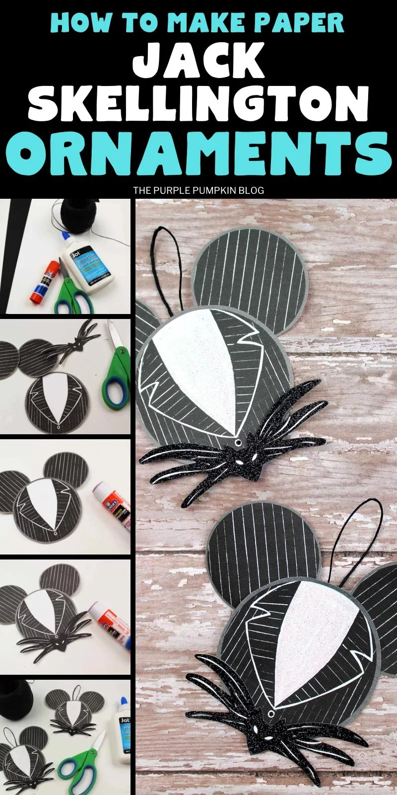 How to make Jack Skellington ornaments (step by step photos)