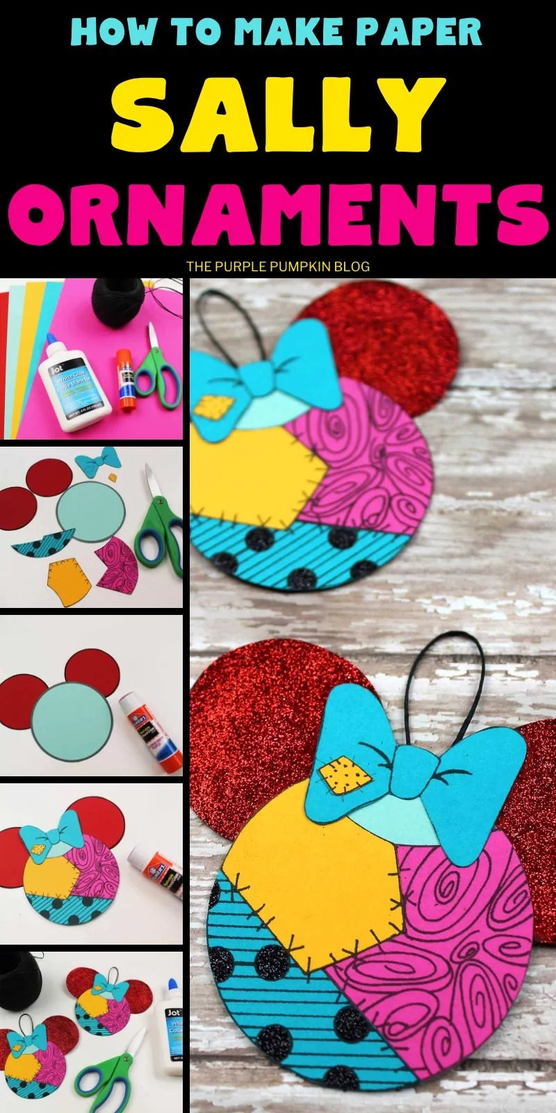 How to make Paper Sally Ornaments