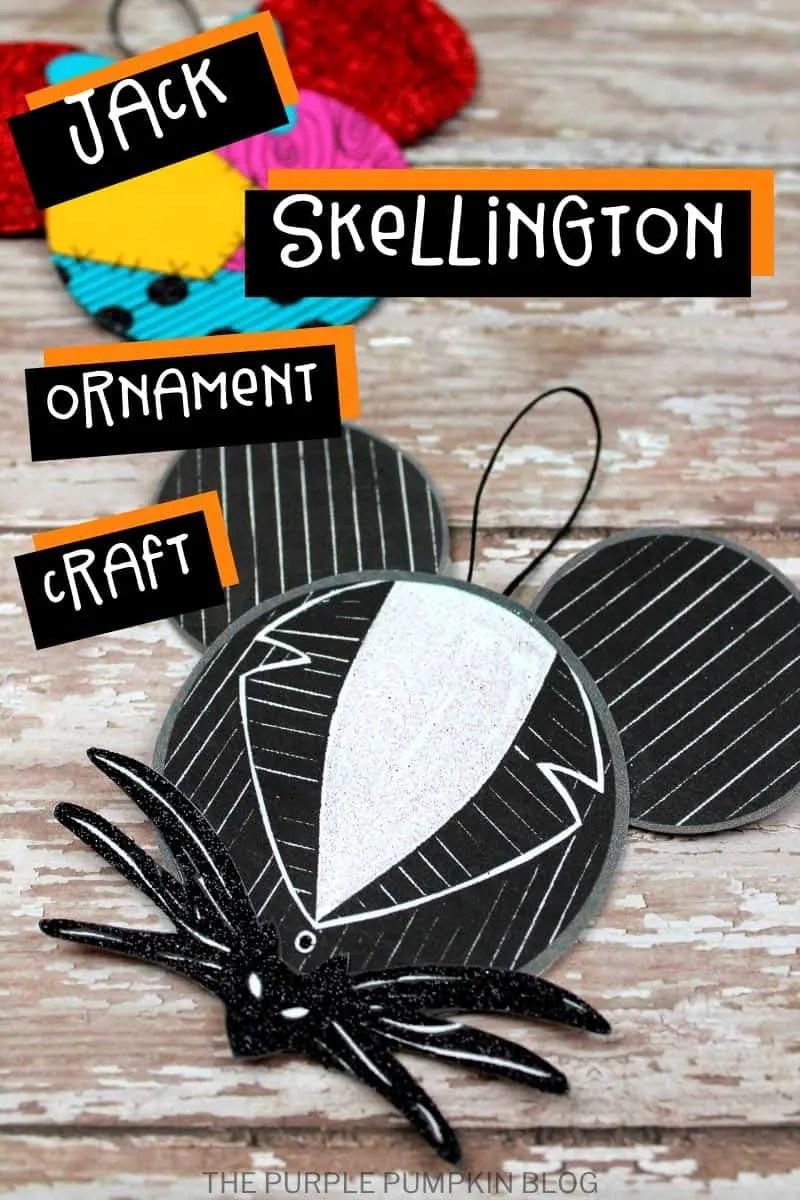 Jack Skellington - Mickey Ears Ornament Craft