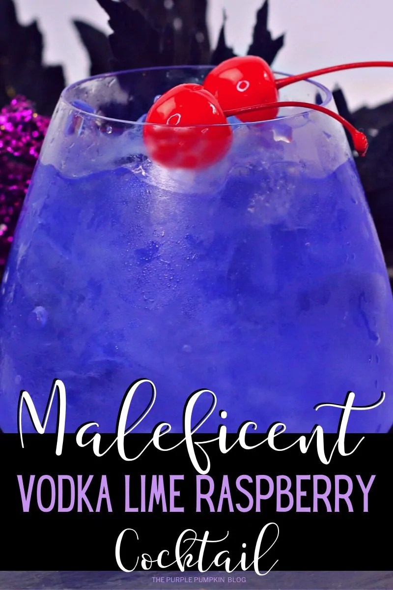 Maleficent Vodka Lime Raspberry Cocktail