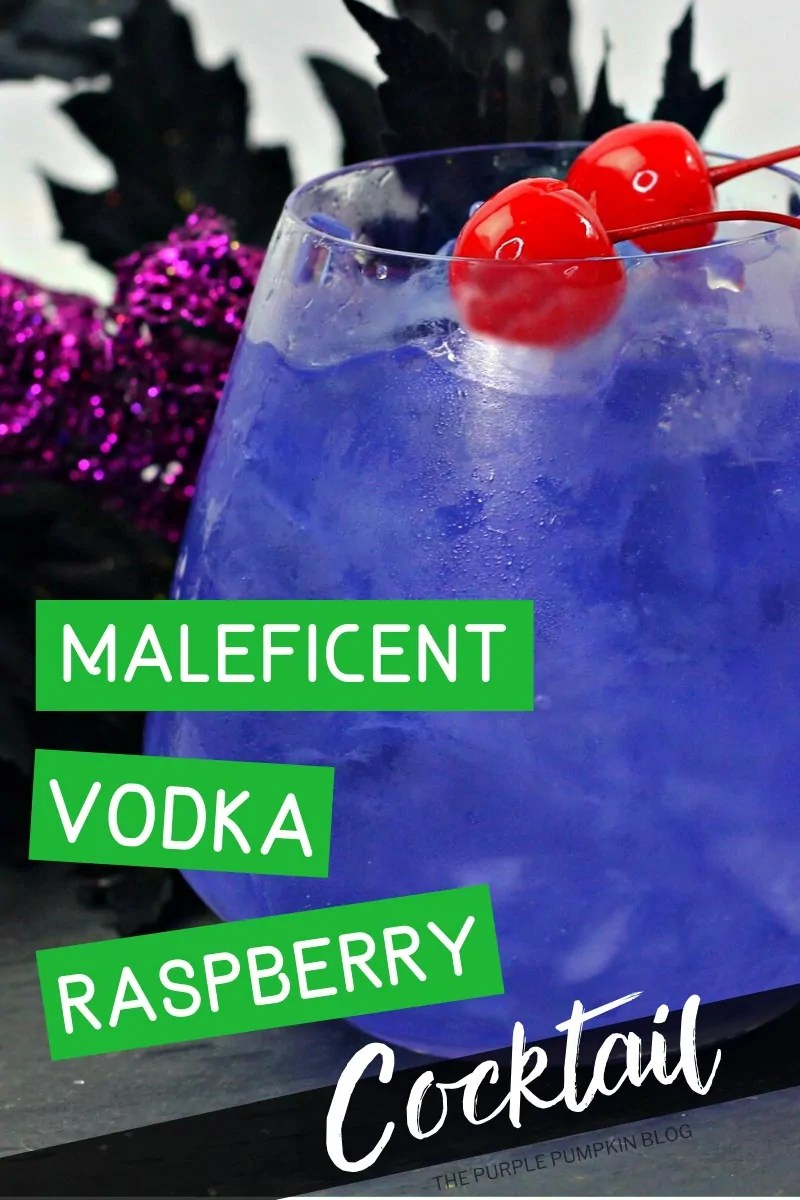 Maleficent Vodka Raspberry Cocktail