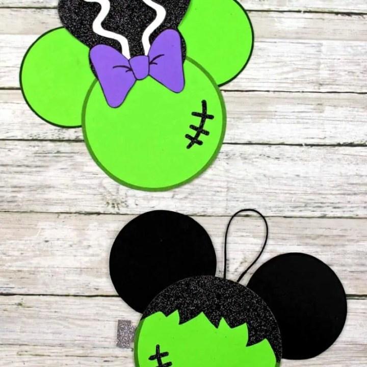 Frankenstein Mickey & Minnie Ornaments