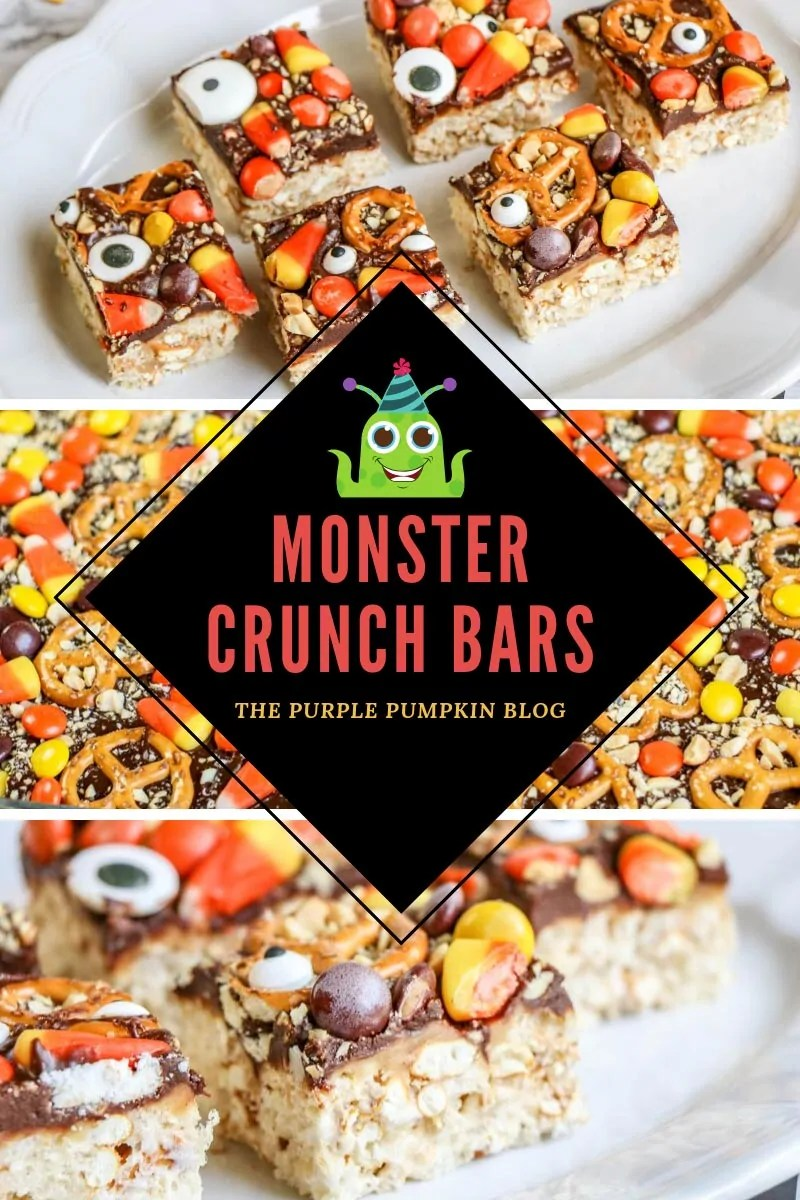 Halloween Rice Krispies Treats - Monster Crunch Bars