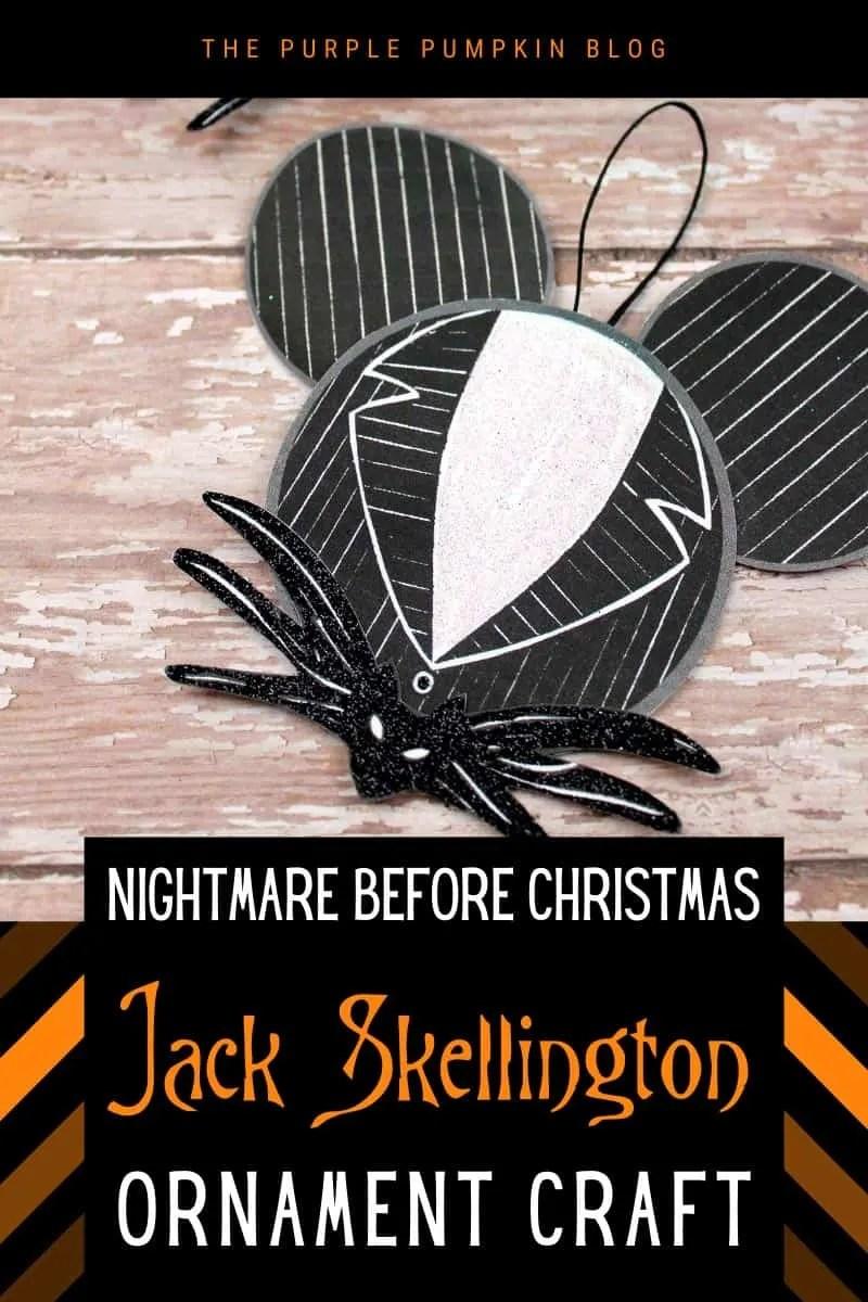 Nightmare Before Christmas Jack Skellington Ornament Craft