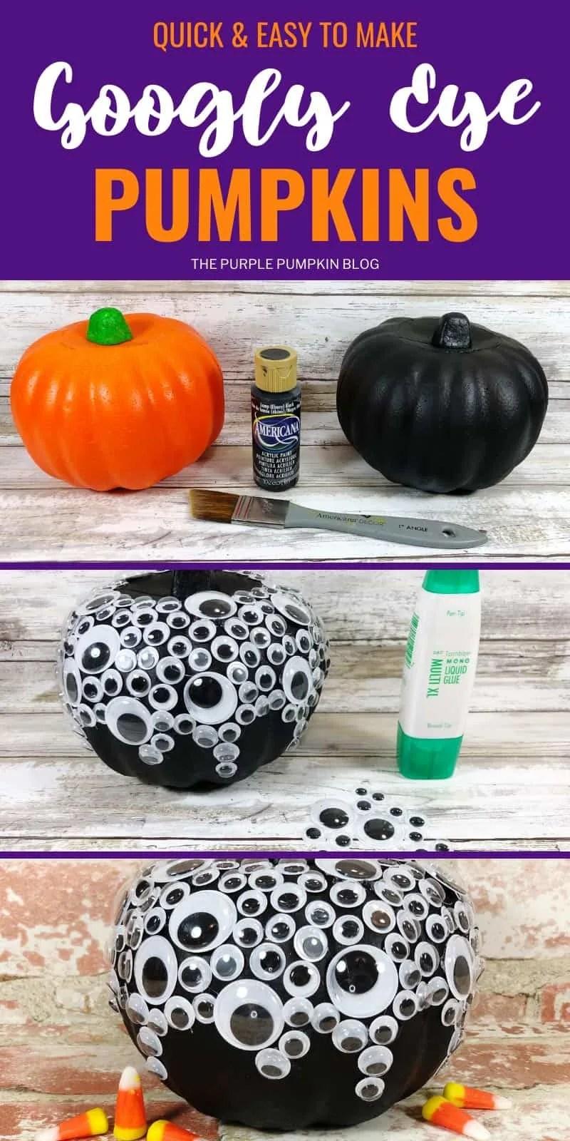 Quick & Easy to Make Googly Eye Pumpkins
