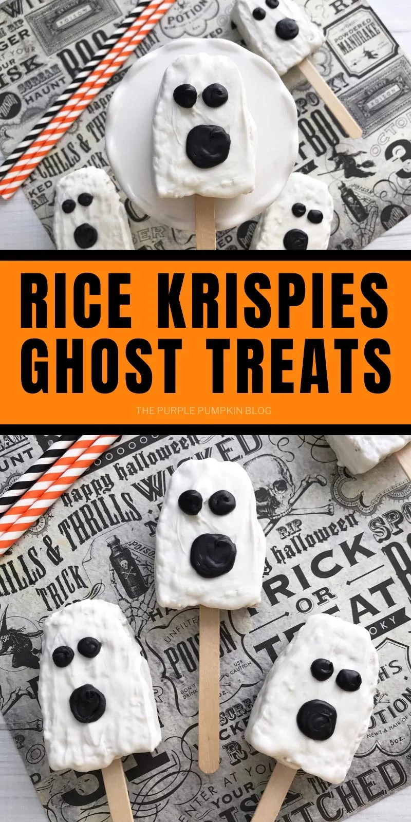 Ghost Treats on Sticks