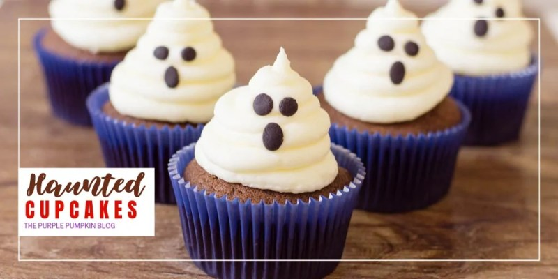 These Halloween Ghost Cupcakes will make a boo-tiful addition to your party desserts table! The chocolate cupcakes have a spooky surprise inside and are topped with a fluffy, marshmallow-buttercream ghost. A spooktacular treat for Halloween!