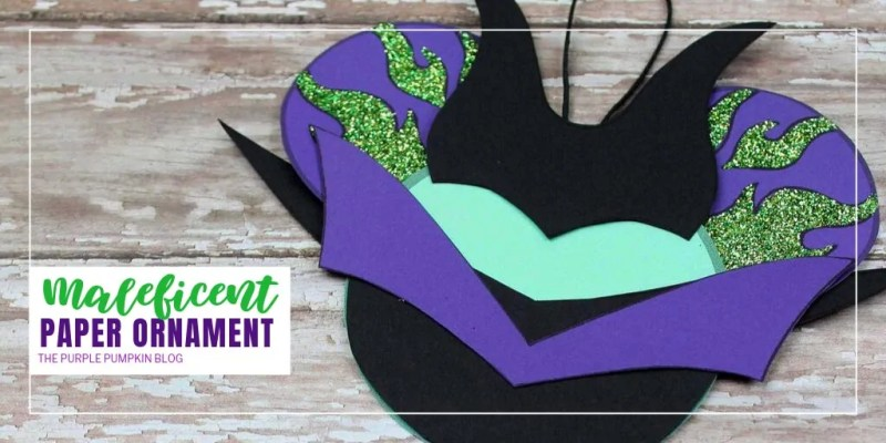 handmade Maleficent ornament