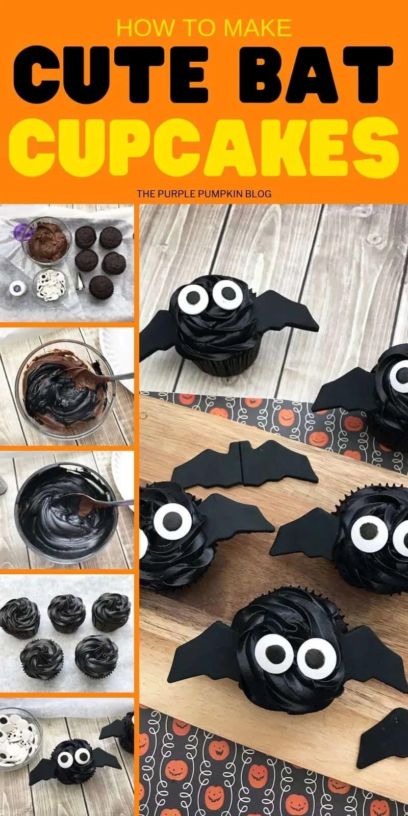 How to make cute bat cupcakes