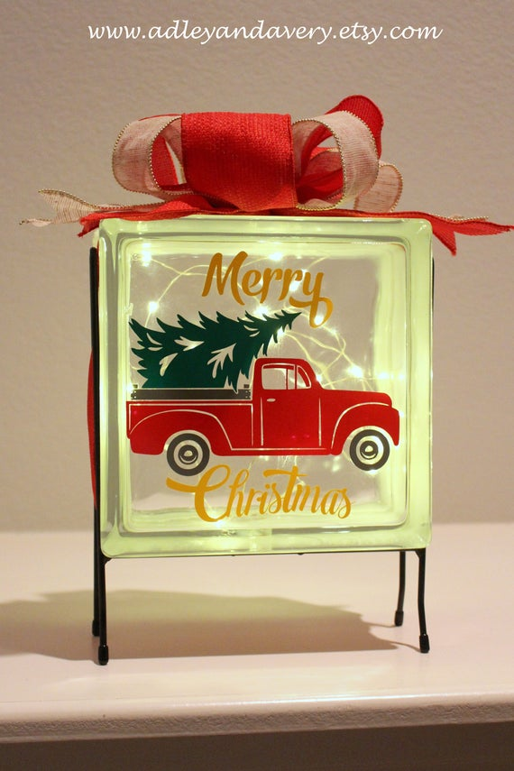 Red Truck & Christmas Tree