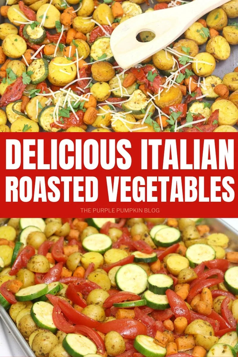 Delicious Italian Roasted Vegetables on a sheet pan