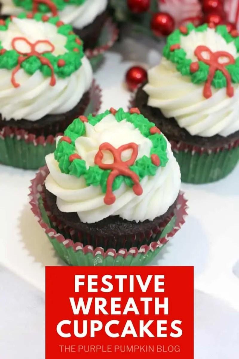 Festive Wreath Cupcakes
