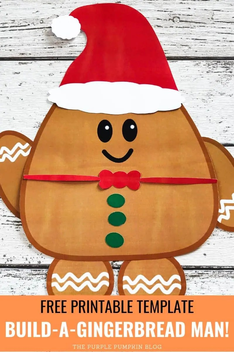 Free Printable Template - Build-a-Gingerbread Man!
