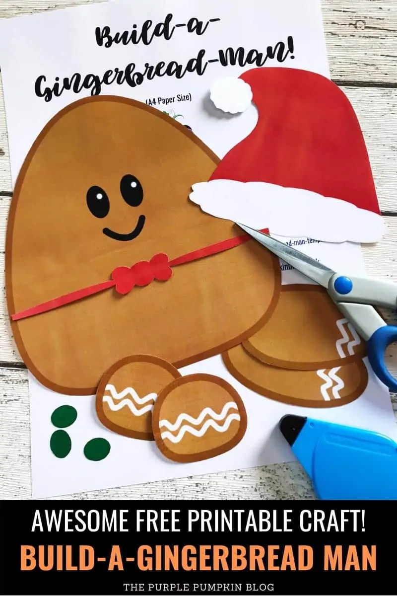 Awesome free printable craft! Build-A-Gingerbread Man