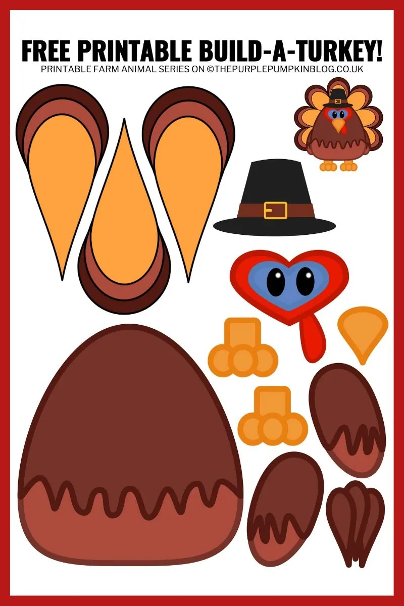 Printable Paper Turkey Template