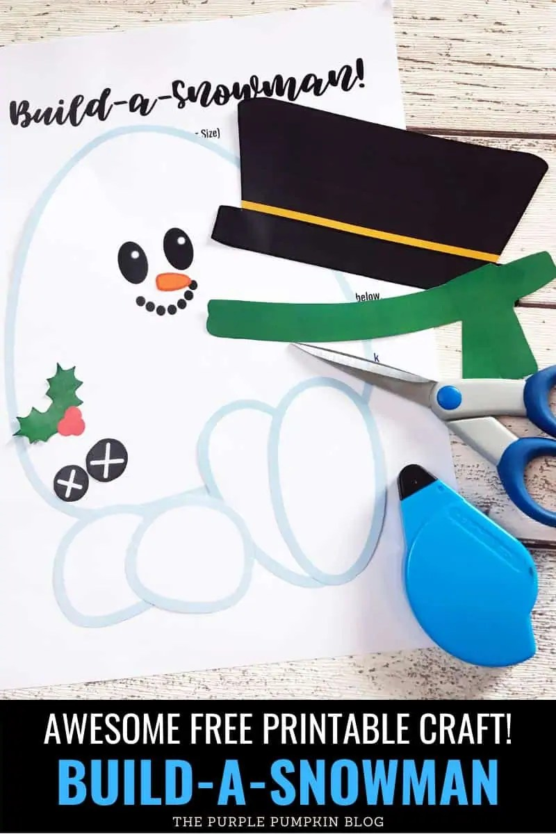 awesome free printable craft! Build-a-snowman