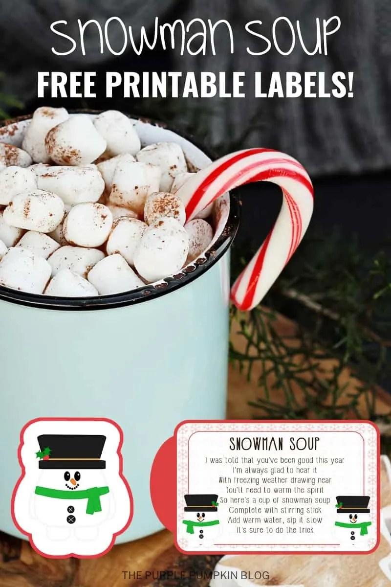 Snowman Soup - Free Printable Labels