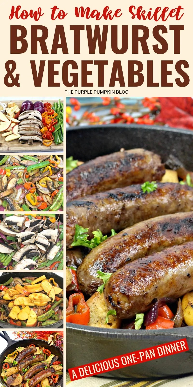 How to make skillet bratwurst and vegetables