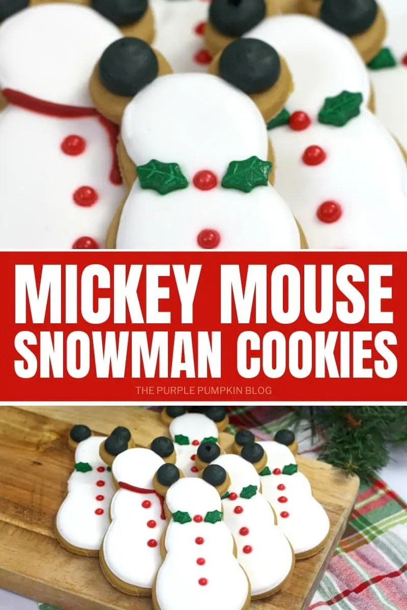 Mickey Mouse Snowman Cookies