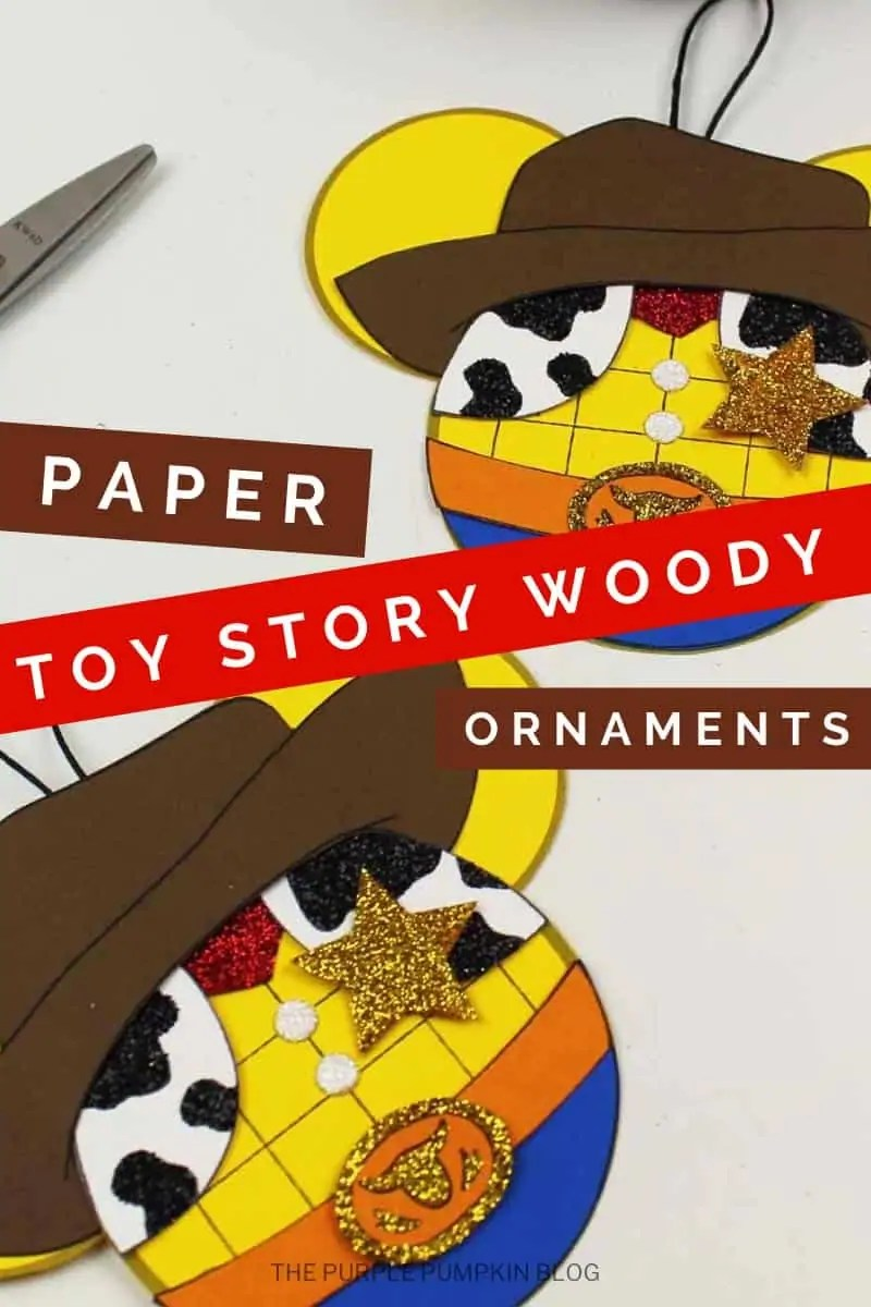 Paper Toy Story Woody Ornaments