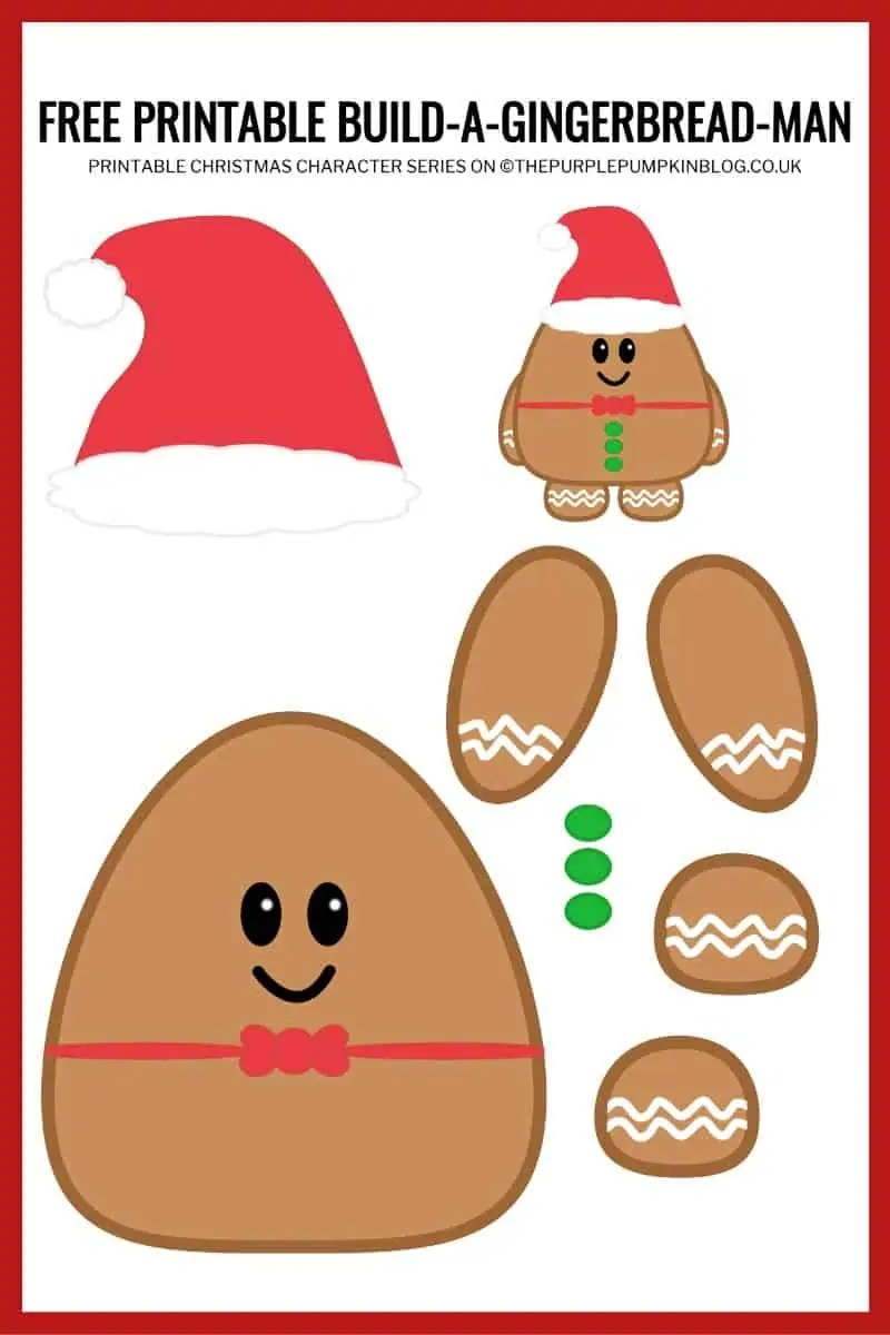It is a graphic of Gingerbread Printable with small