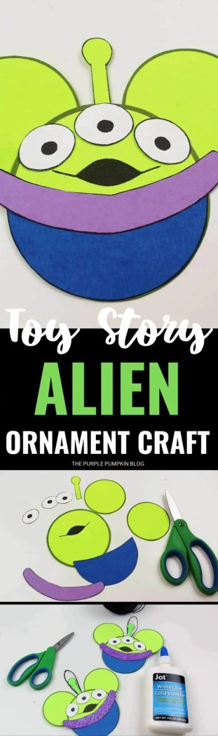 Toy Story Alien Christmas Ornament Craft Diy Disney Paper
