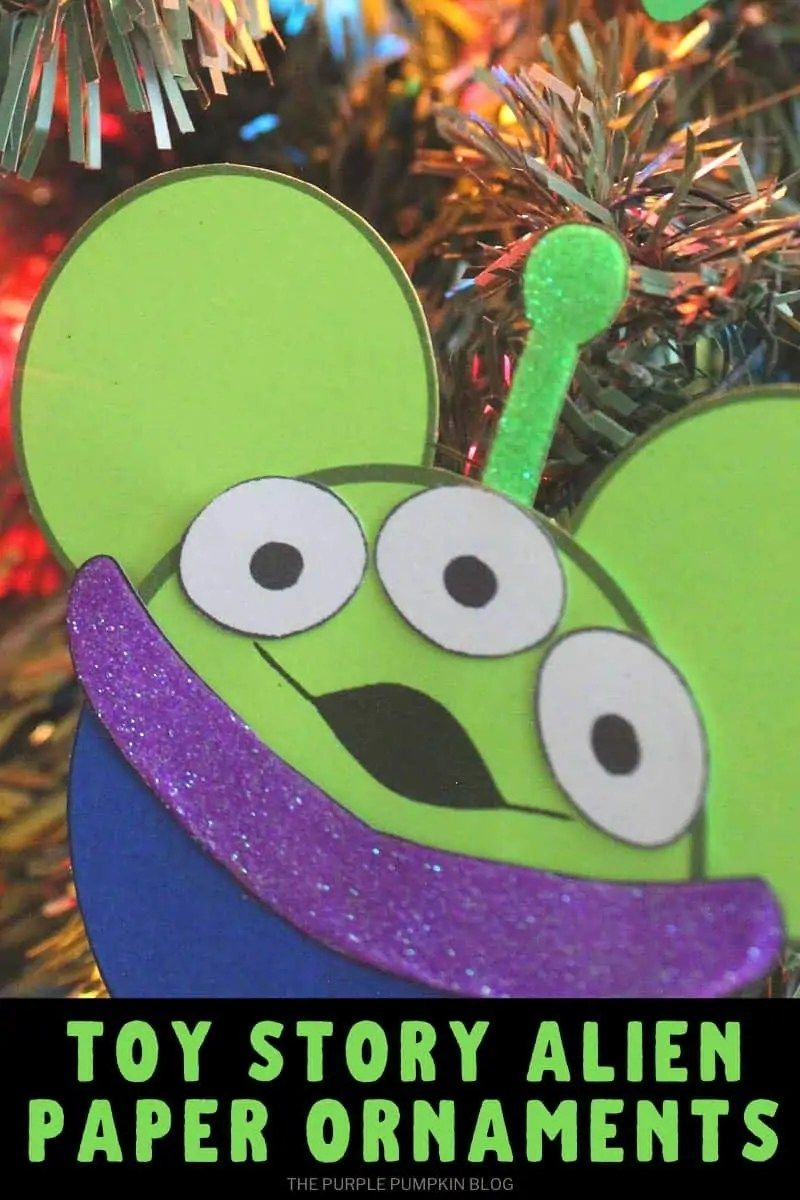 Toy Story Alien Christmas paper ornaments