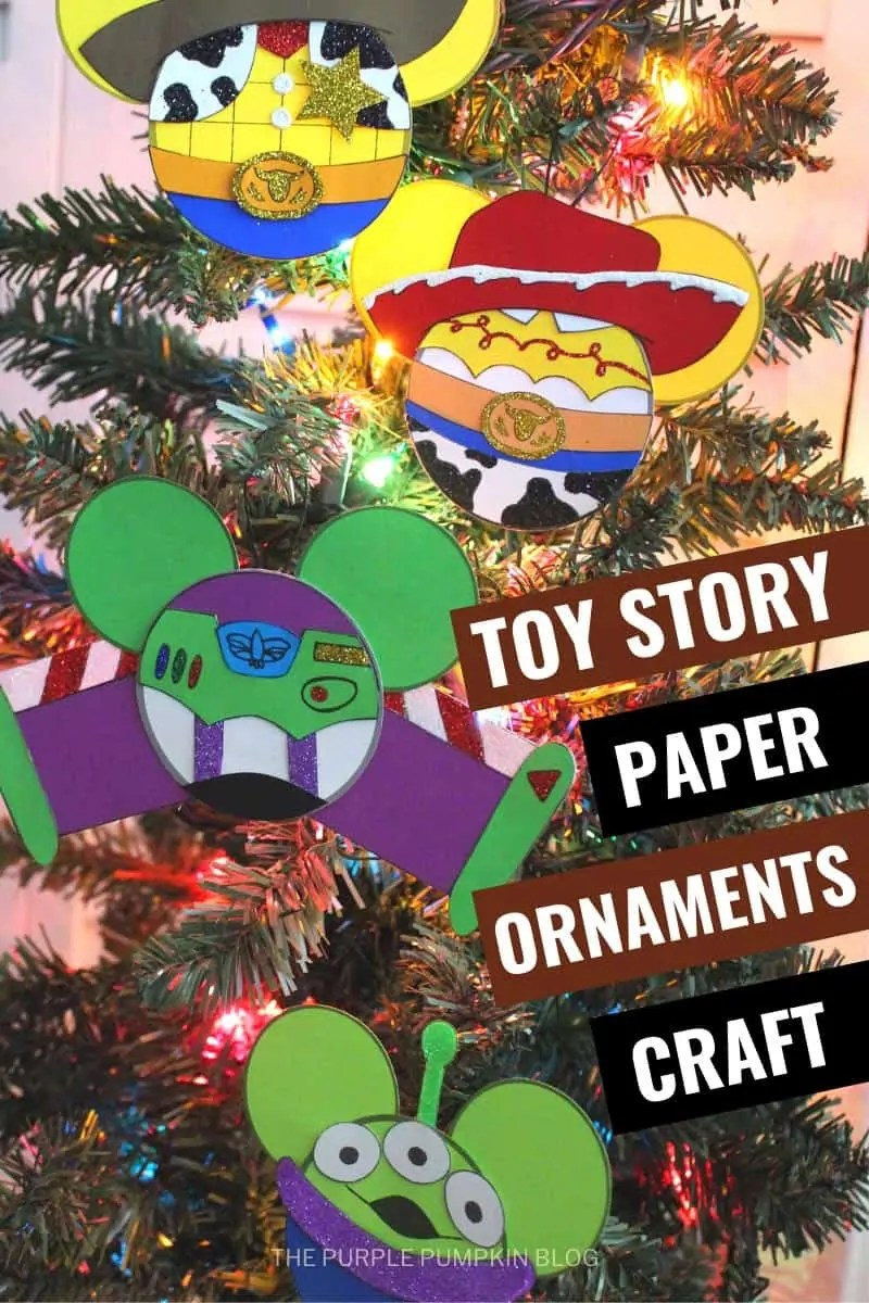Toy Story Paper Ornaments