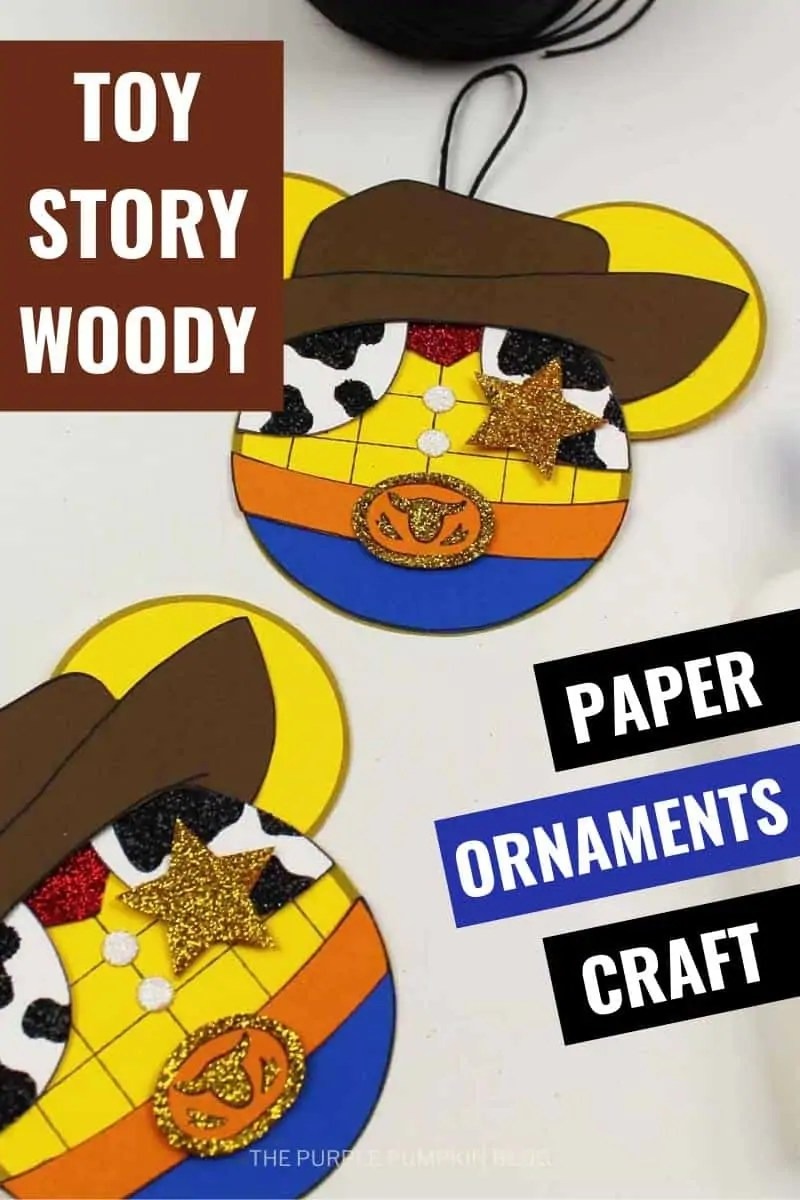 Toy Story Wood - Paper Ornaments Craft