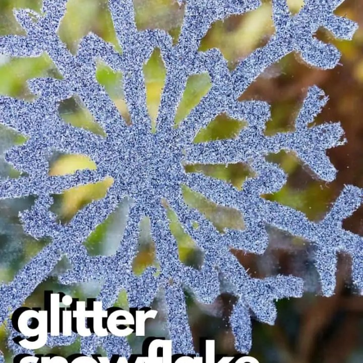 How To Make Glitter Snowflakes