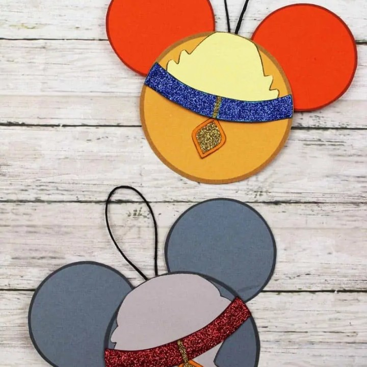 Lady and the Tramp Paper Ornaments Craft