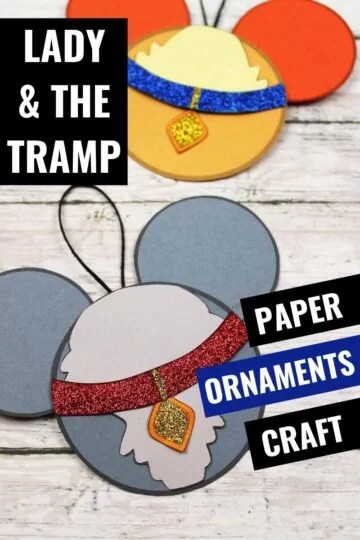 lady-the-tramp-paper-ornaments-craft