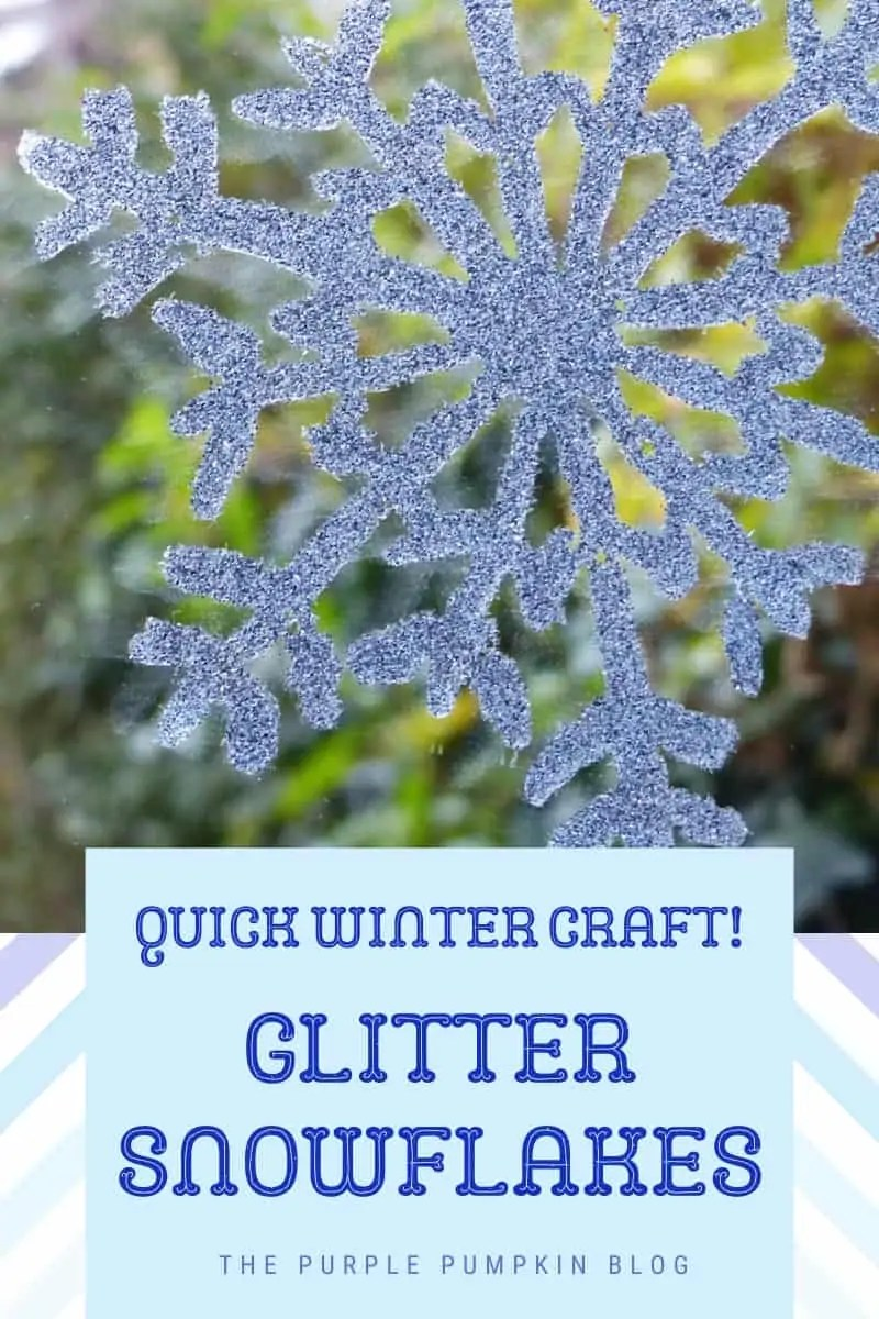 Quick winter craft! Glitter Snowflakes