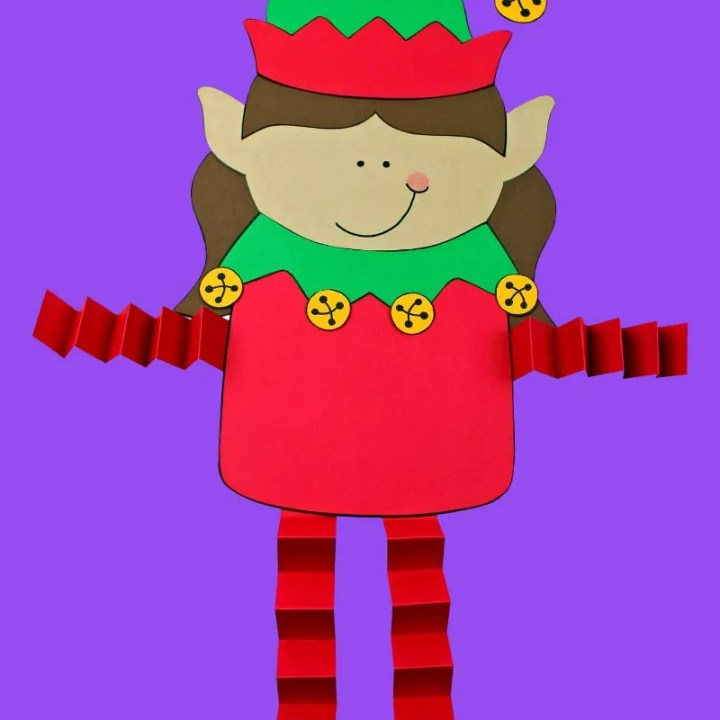 Printable Elf Girl Paper Craft