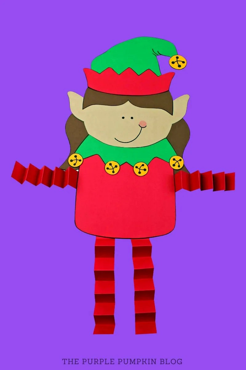 Accordion fold elf girl craft
