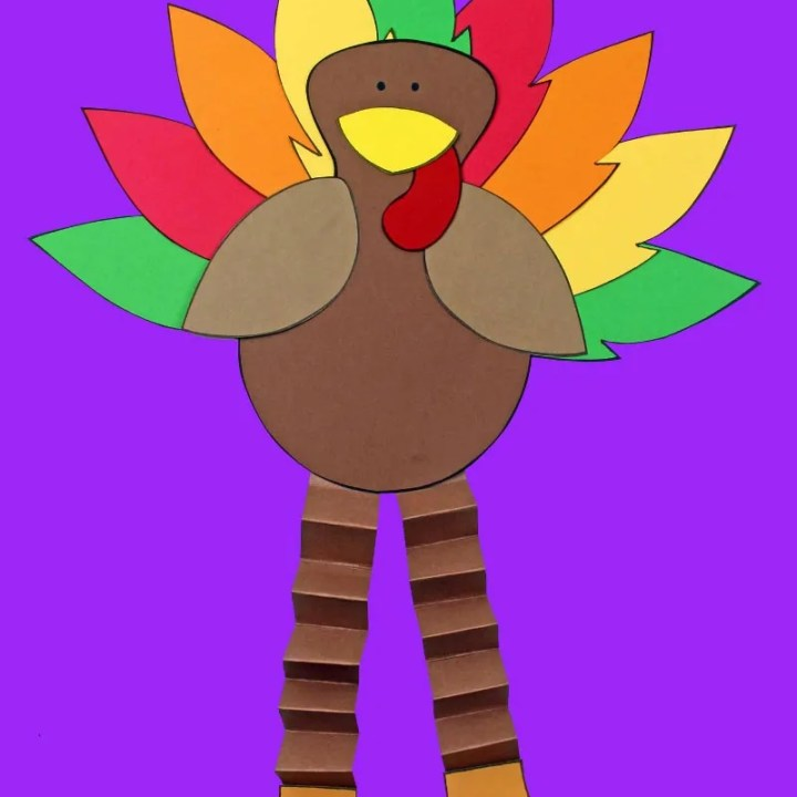 Printable Turkey Paper Craft