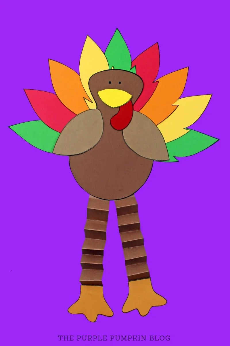 Accordion Paper Turkey Craft