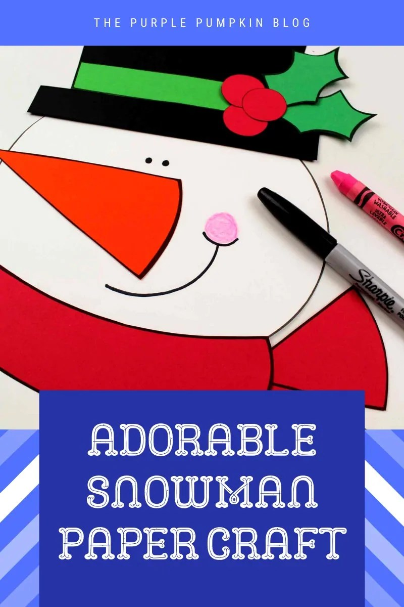 Adorable Snowman Paper Craft