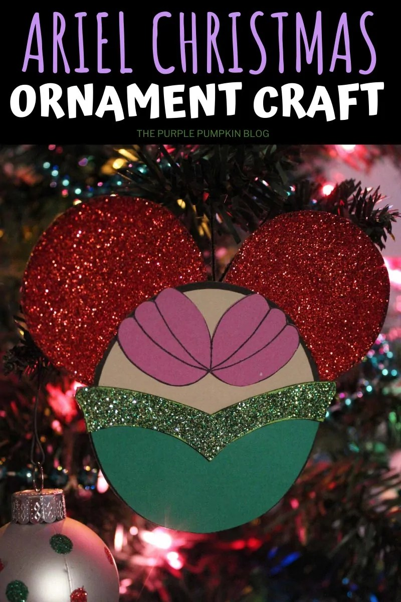 Ariel Christmas Ornament Craft