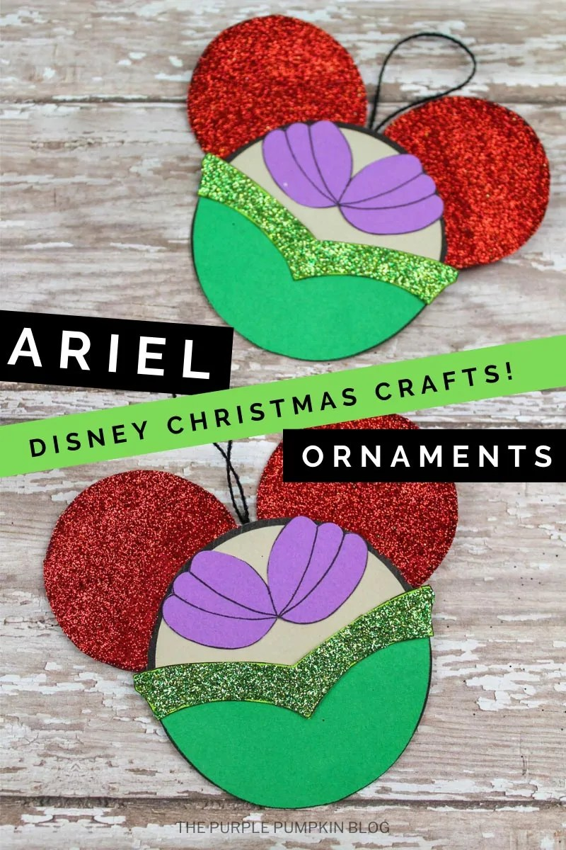 Ariel Disney Christmas Crafts! Ornaments