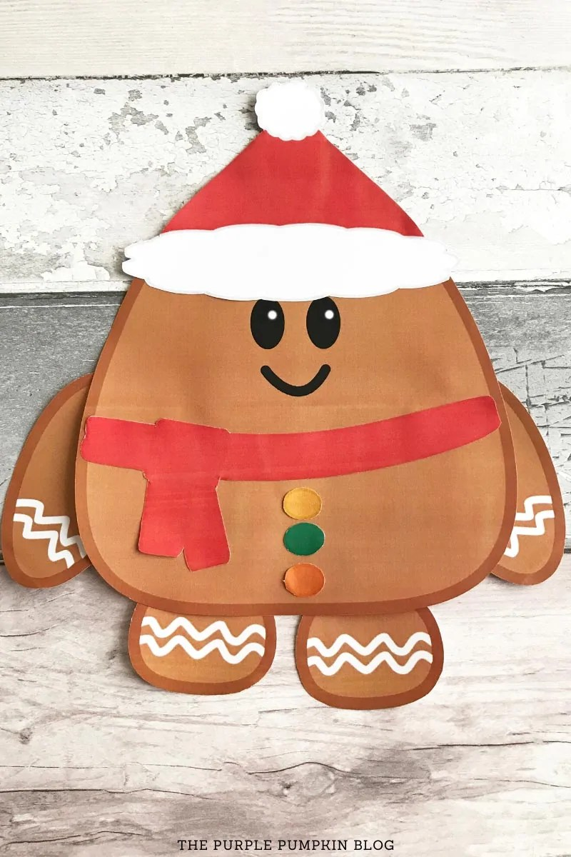 Assembled Gingerbread Boy Printable