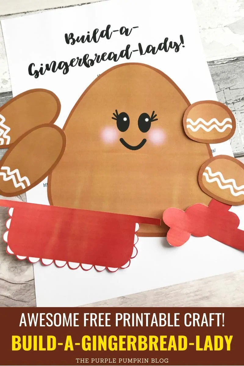 Awesome free printable craft - Build A Gingerbread Lady