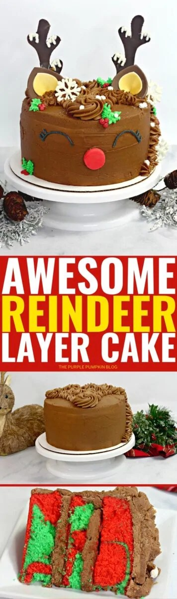 Awesome Reindeer Layer Cake