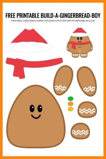 Build A Gingerbread Boy Printable