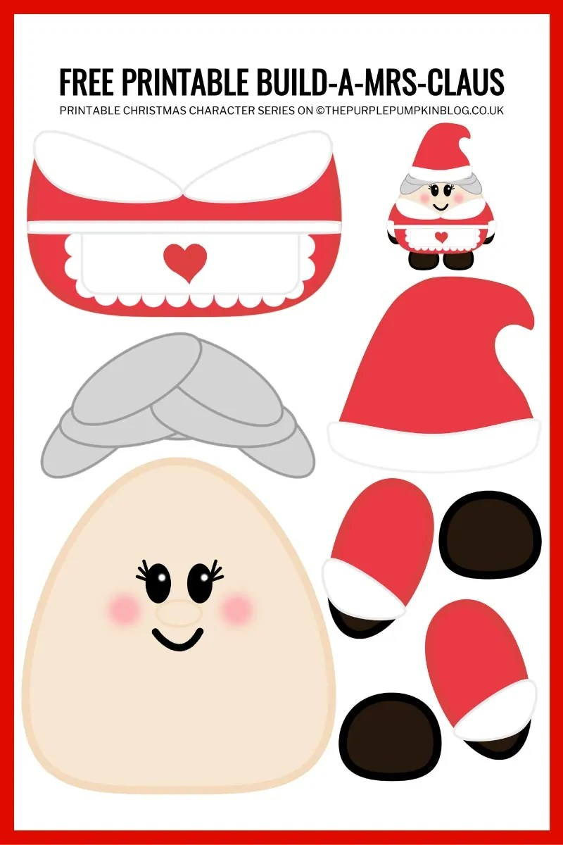 Build-A-Mrs-Claus-Printable